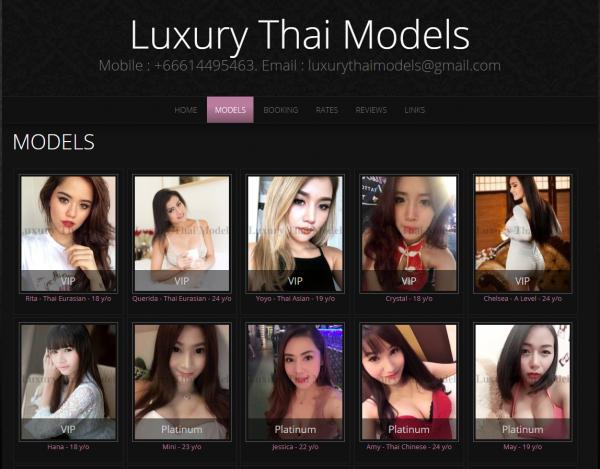 Luksuzni tajlandski modeli Bangkok pratioci