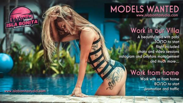 Webcam studio is looking for live models